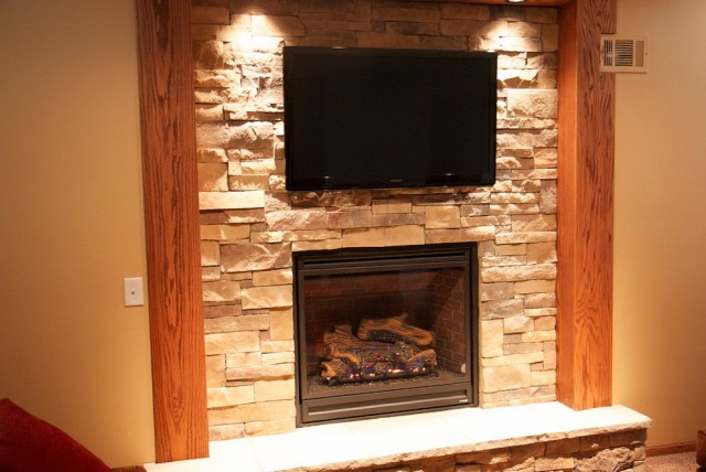 Pictures Of Stone Fireplaces With Tv