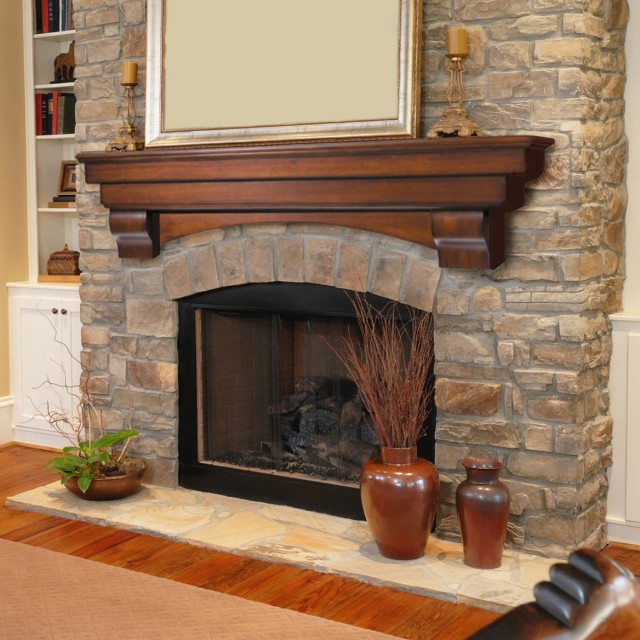 Pictures Of Stone Fireplaces With Wood Mantels