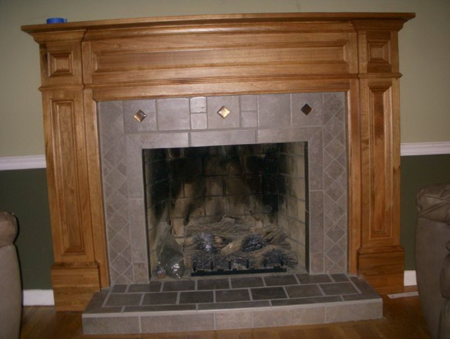 Pictures Of Wooden Fireplace Mantels