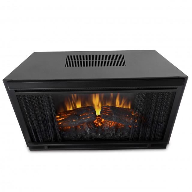 Real Flame Fresno Electric Fireplace In Dark Walnut