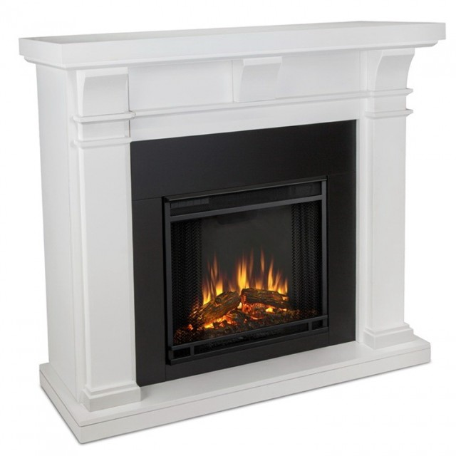 Real Flame Fresno Electric Fireplace White