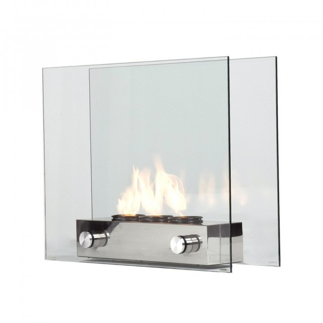 Southern Enterprises Loft Portable Indoor Outdoor Fireplace