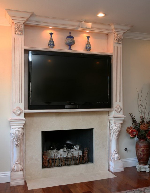 Stone Fireplace Design Ideas With Tv Above