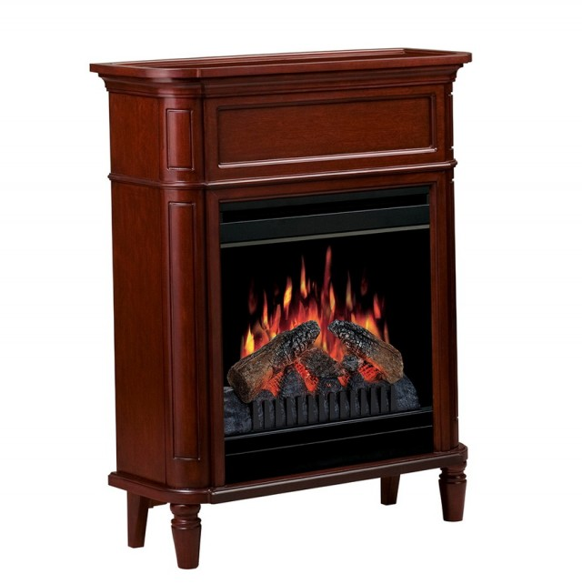 Twin Star Coastal Media Console Electric Fireplace Summer Cherry