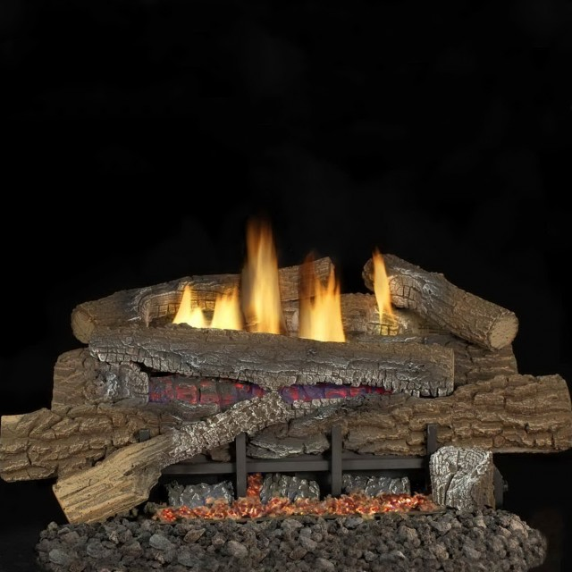 Vent Free Gas Fireplace Logs With Remote