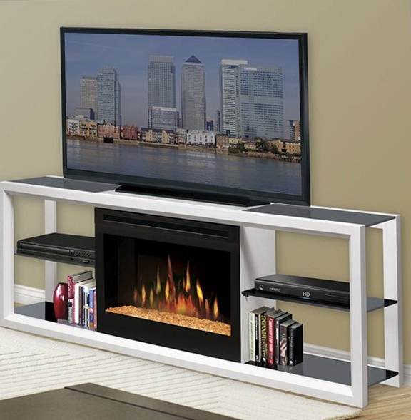 White Corner Fireplace Tv Stand