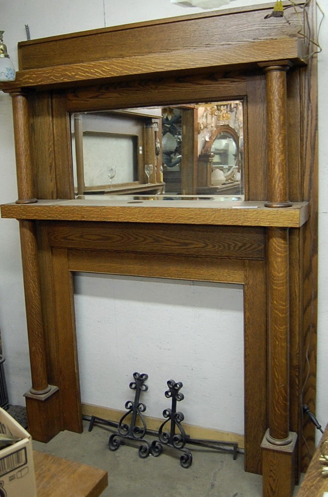 Antique Fireplace Mantels With Mirrors