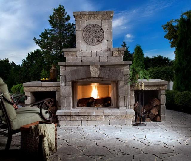Backyard Patio Fireplace Ideas