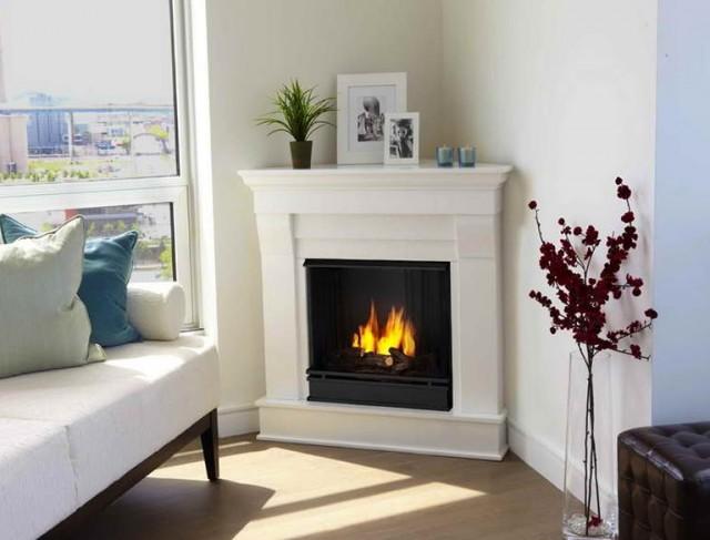 Corner Fireplace Mantel Decorating Ideas