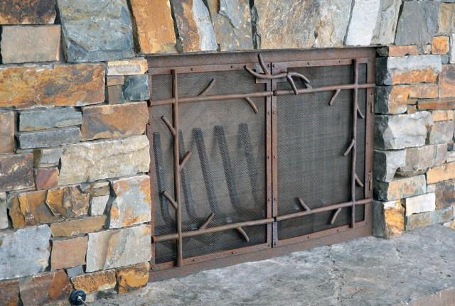 Custom Fireplace Screens With Doors