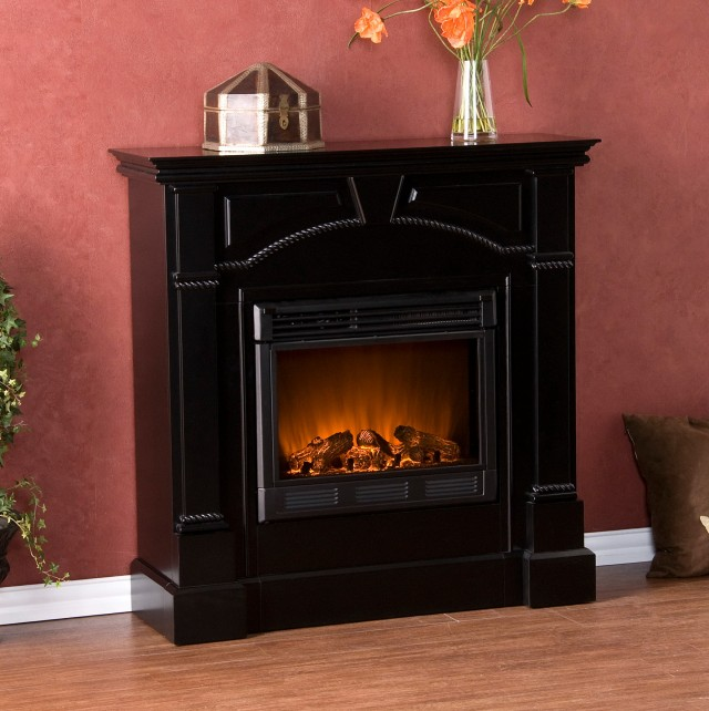 Decor Flame Electric Fireplace For Tvs Up To 42 Black