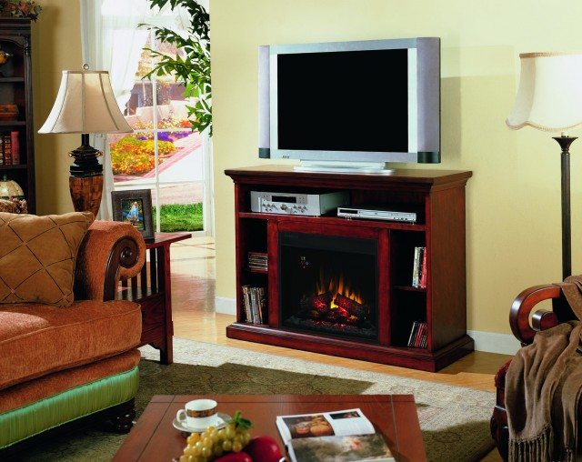 Decor Flame Electric Fireplace For Tvs Up To 48 Chestnut