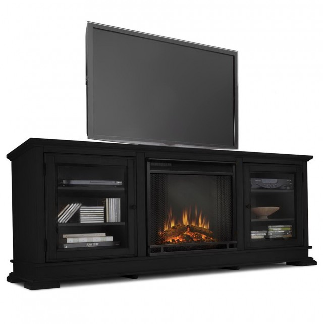 Decor Flame Electric Fireplace For Tvs Up To 55 Black