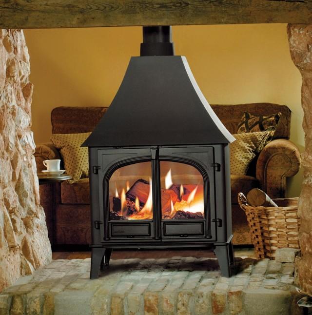 Double Sided Wood Burning Fireplace Canada