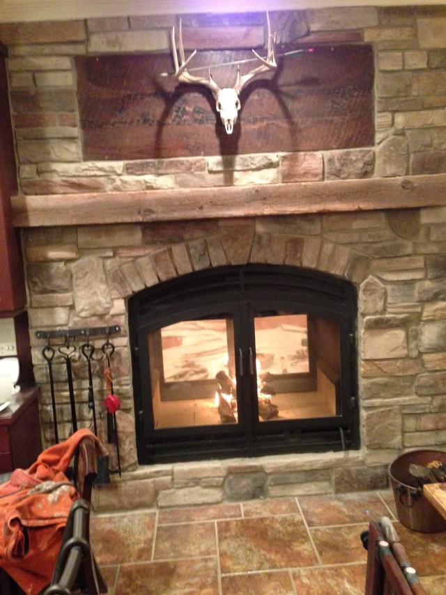 Double Sided Wood Burning Fireplace Insert