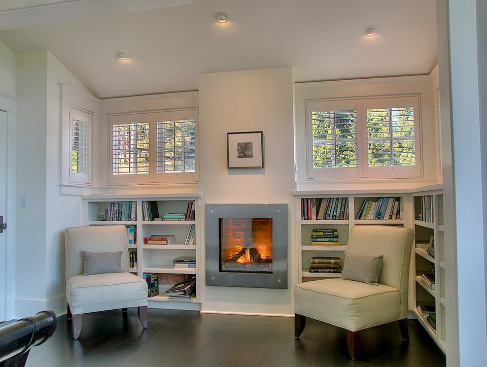 Fireplace Design Ideas With Bookcases
