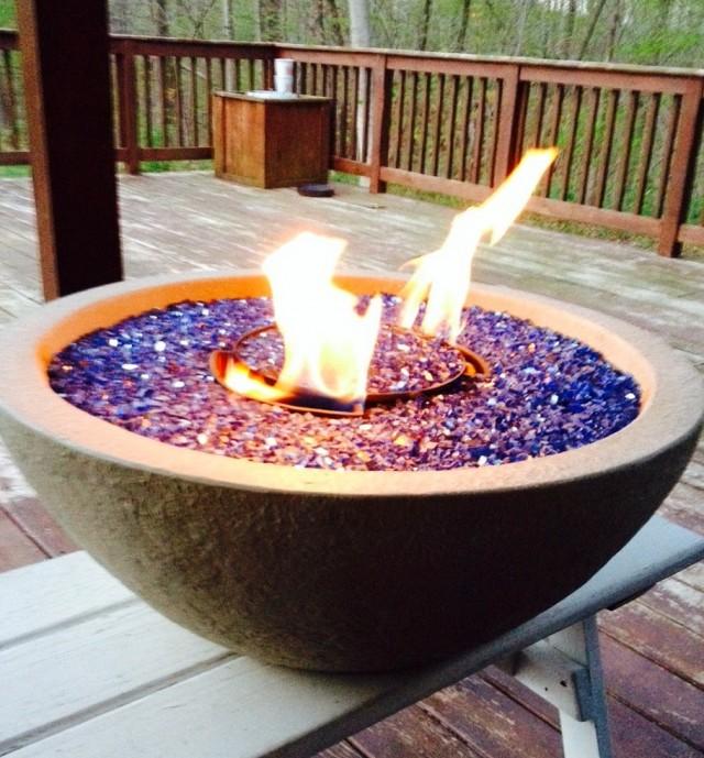 Fireplace Glass Rocks Diy