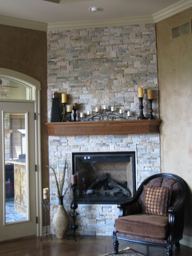 How To Paint A Brick Fireplace To Look Like Stone