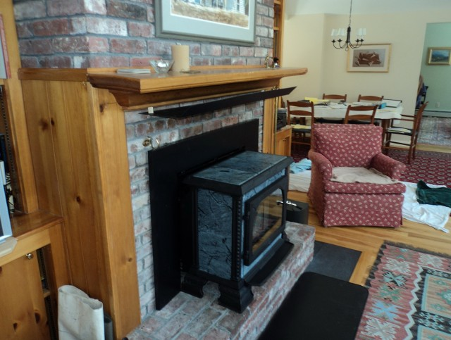 Installing Wood Burning Stove Into Small Fireplace