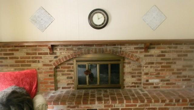 Painted Brick Fireplace Mantels