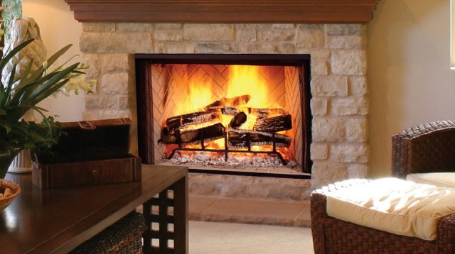 Pictures Of Wood Burning Fireplaces