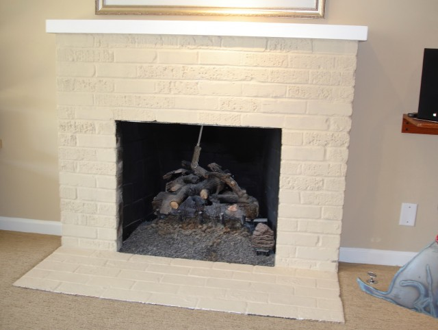 Remodel Old Brick Fireplace