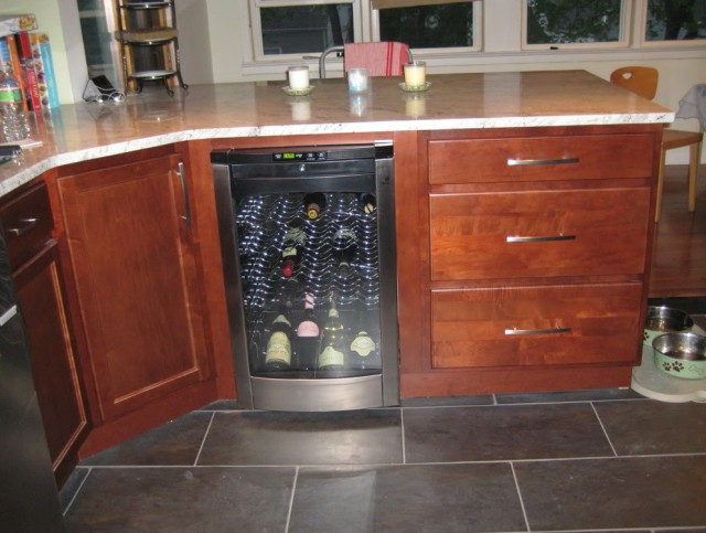 Small Wine Cellar In Kitchen