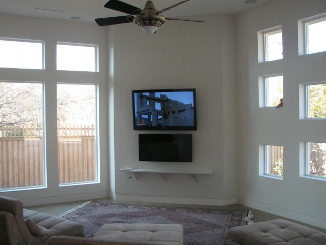 Wall Mounted Fireplace And Tv