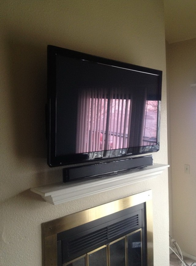 Wall Mounted Fireplace With Tv Above