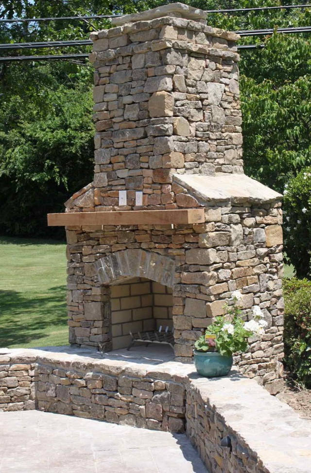 Brick Outdoor Fireplace Pictures