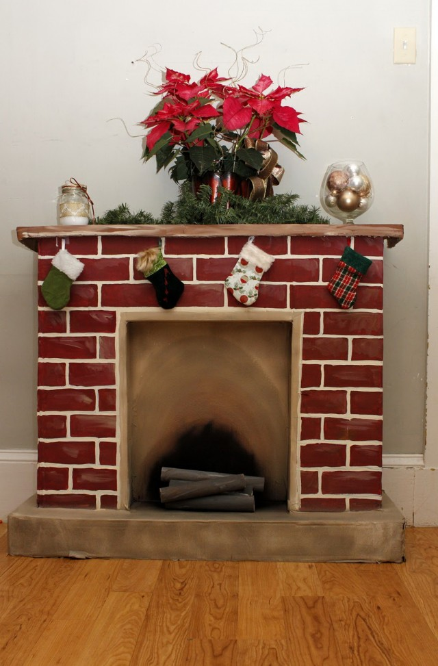 Build A Fireplace Out Of Boxes