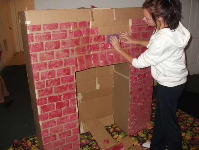Build A Fireplace With Boxes