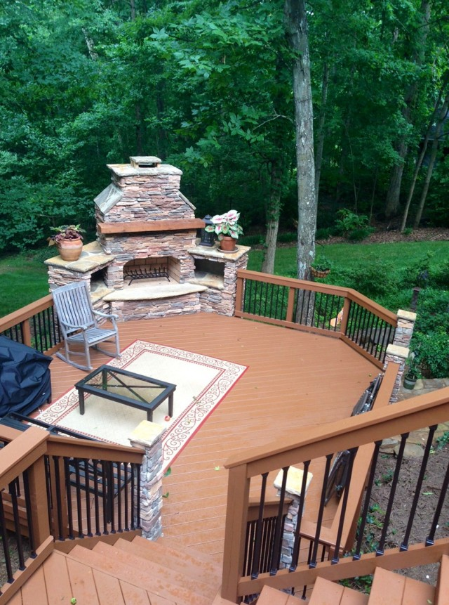 Build Outdoor Fireplace On Deck