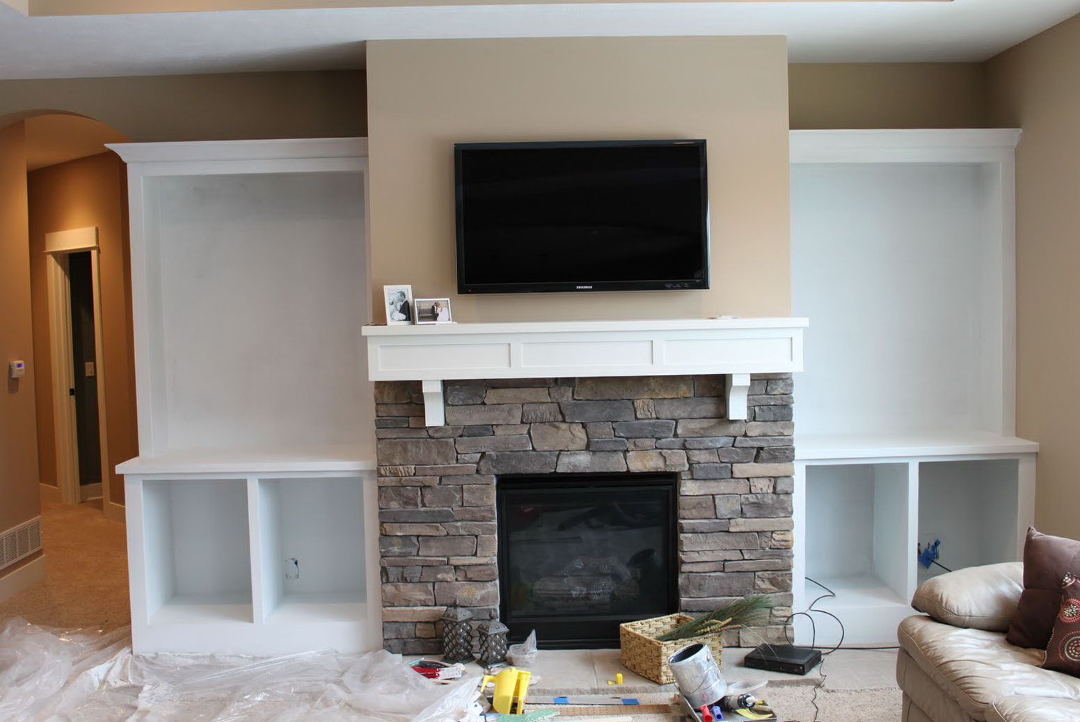 Built Ins Around Fireplace Diy