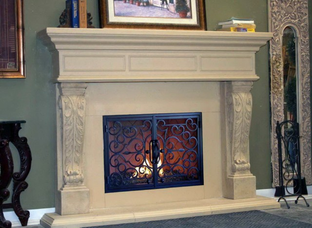 Cast Stone Fireplace Surround Kits