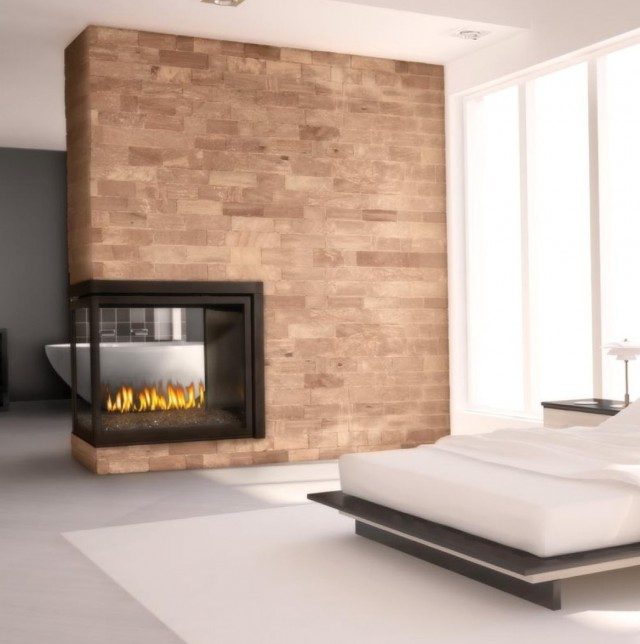 Clean Face 3 Sided Gas Fireplaces