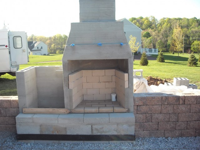 Concrete Outdoor Fireplace Pictures