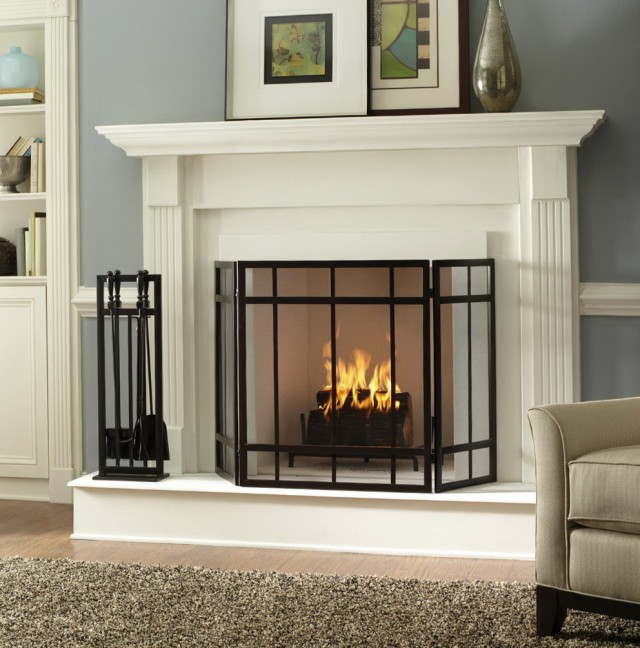 Craftsman Style Fireplace Screens