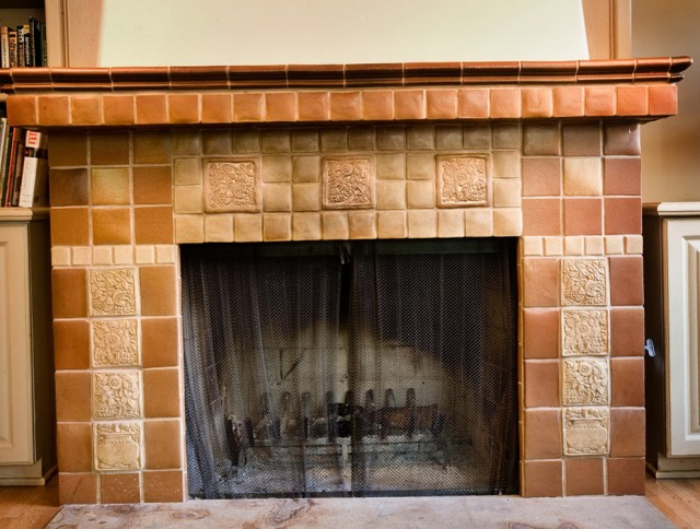 Craftsman Style Fireplace Tiles