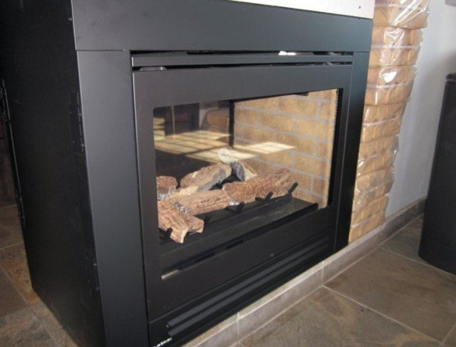 Double Sided Gas Fireplace Logs