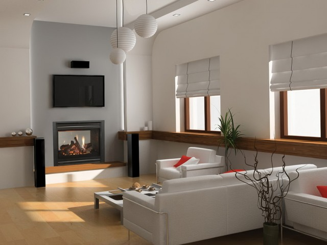 Double Sided Gas Fireplace Prices