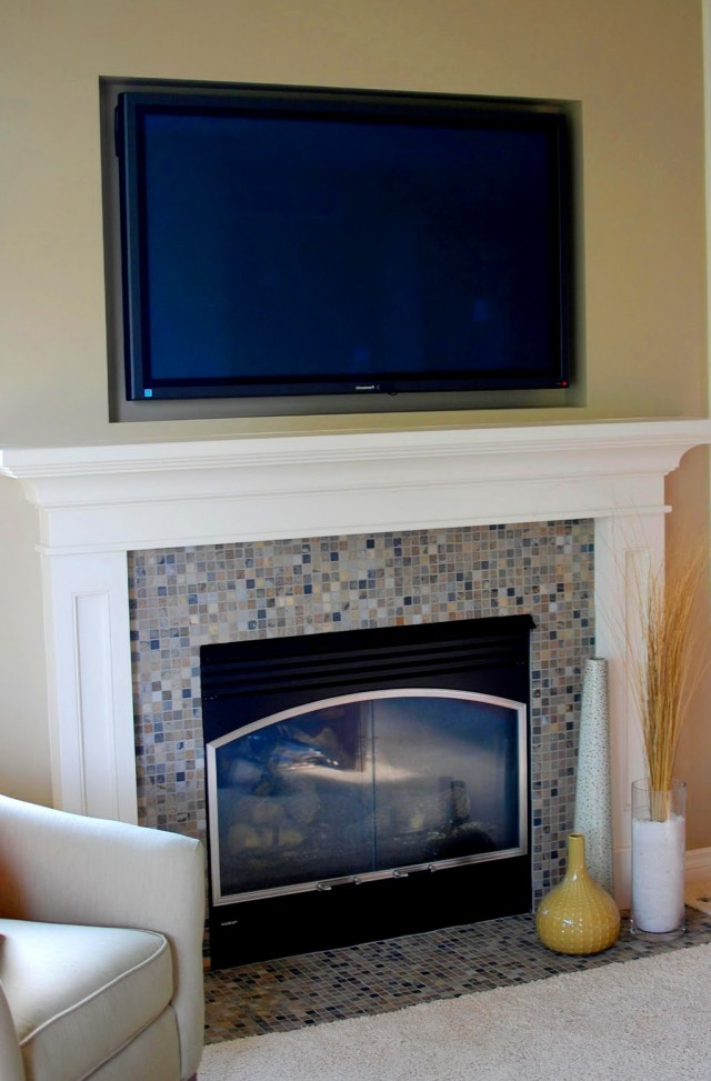 Fireplace Mantel Height With Tv Above