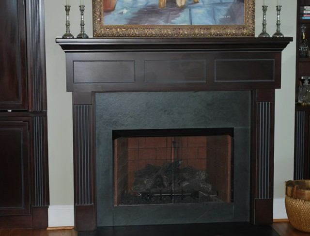 Gas Fireplace Slate Surround