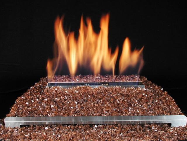Glass Fireplace Rocks Conversion