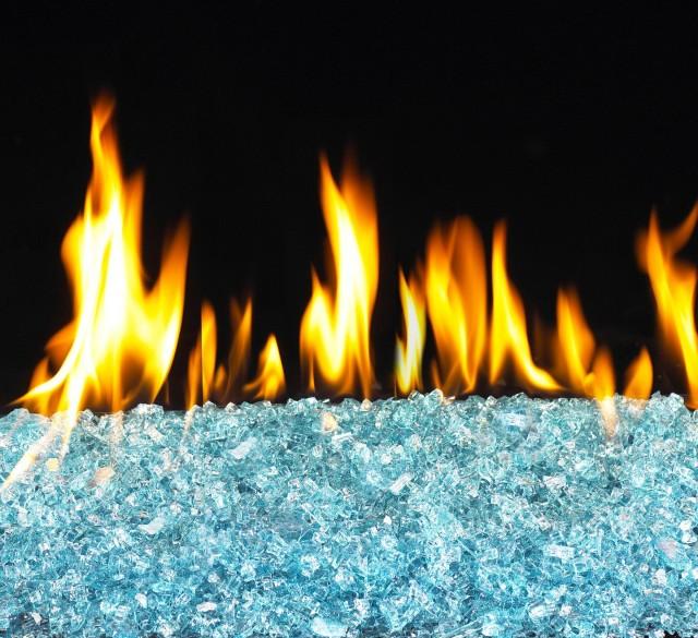 Glass Fireplace Rocks Sacramento