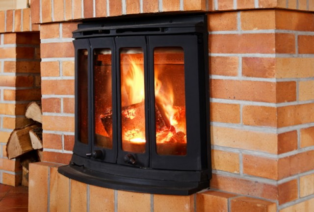 High Efficiency Wood Fireplace