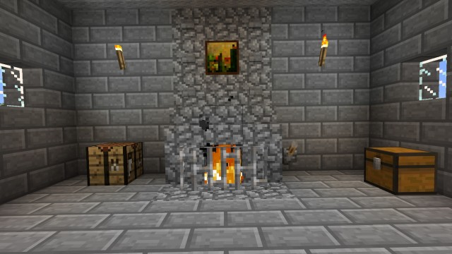 How To Build A Fireplace In Minecraft