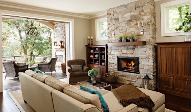 How To Install Faux Stone Around A Fireplace