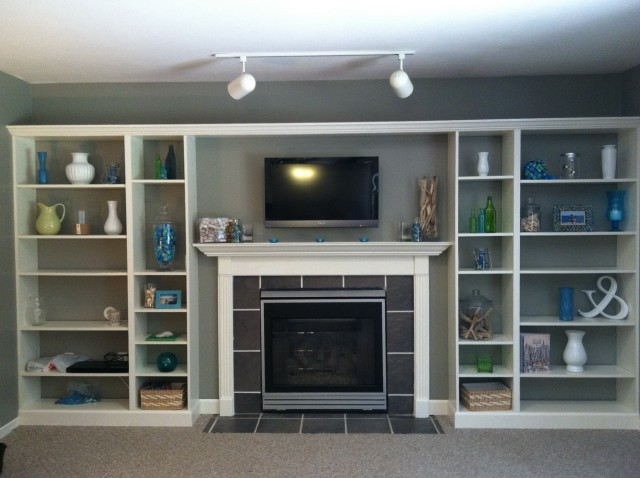 Ikea Built Ins Around Fireplace