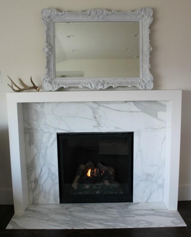Modern Floating Fireplace Mantel